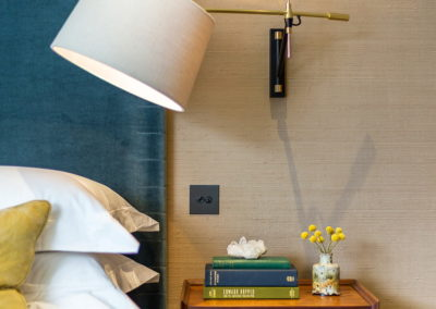 Interior Photography bedside lamp and table-min