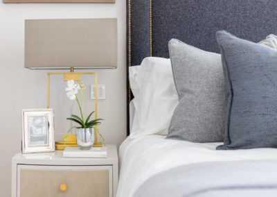 Interior Photography bedside table lamp and cushions-min