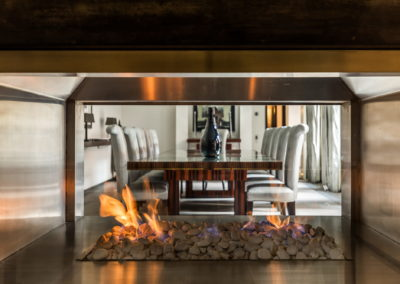 Interior Photography fireplace and dining table-min