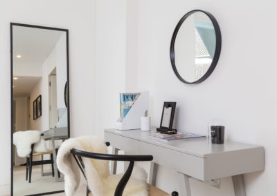 Interior Photography vanity table and mirror-min