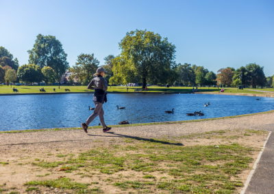 Location Photography clapham common pond runner